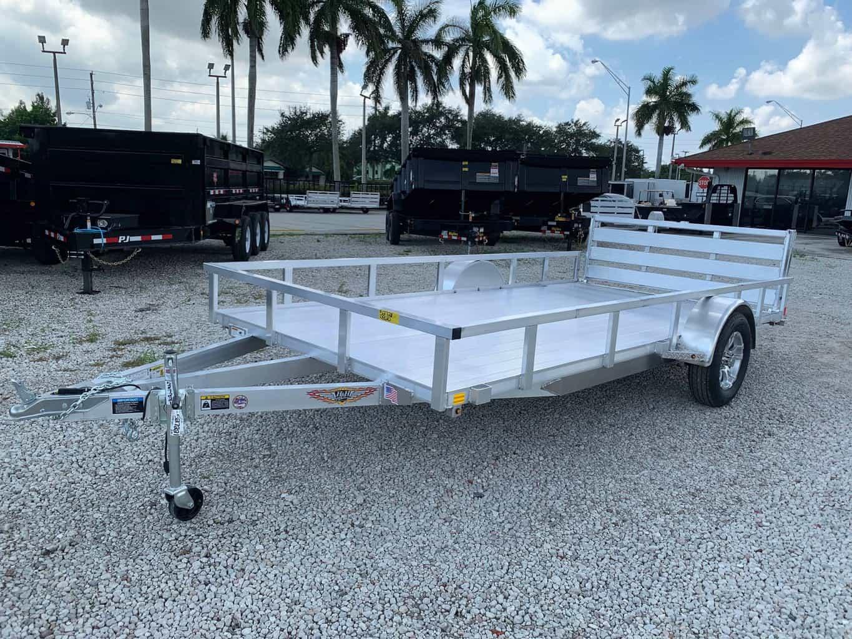 H  U0026 H 14 U0026 39  Aluminum Utility Trailer H8214rsa